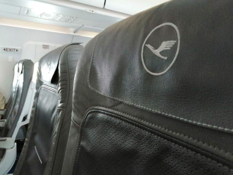 Sitz in einem A320 von Lufthansa (Foto: jan Gruber).