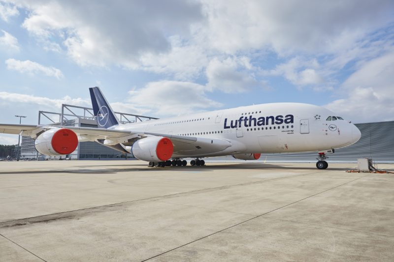 Airbus A380 (Foto: Lufthansa / Oliver Roesler).