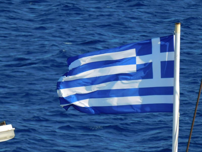 Flagge Griechenlands (Foto: Jan Gruber).