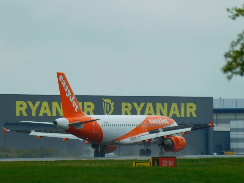 Airbus A320 am Flughafen London-Stansted (Foto: Jan Gruber).