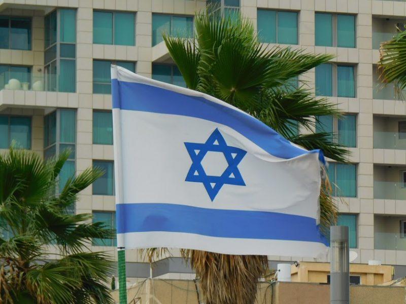 Flagge Israels in Tel Aviv (Foto: Jan Gruber).