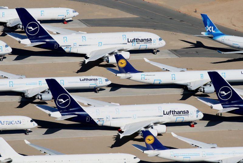 Lufthansa-Maschinen im Storage (Foto: V1Images.com/Javier Rodríguez).