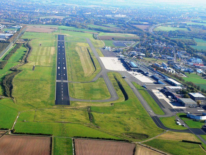 Runway des Dortmunder Flughafens (Foto: Dortmund Airport / Aerowest GmbH).